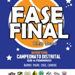 FASE FINAL SUB 14 FEMININOS – CAMPEONATO DISTRITAL